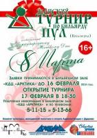 Бильярдисток Дудинки приглашают принять участие в турнире