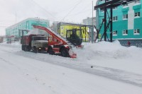 В Дудинке подсчитали объем январского снега